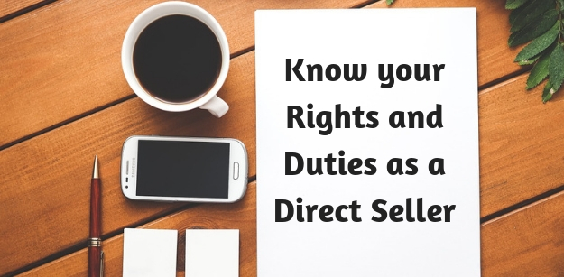 Know your Rights and Duties as a Direct Seller
