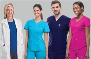 The medical scrubs