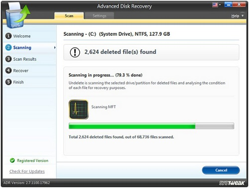 Use Advanced Disk Recovery