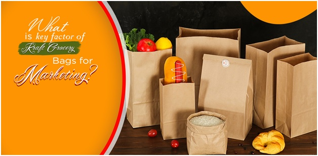 What is key factor of Kraft Grocery Bags for Marketing